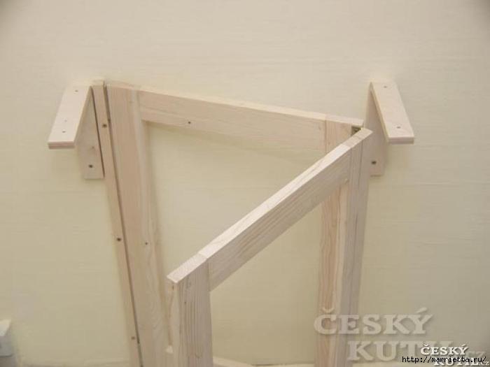 Складной столик своими руками для маленькой кухни (10) (700x525, 108Kb)