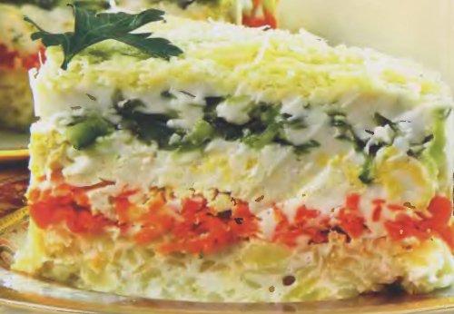 Рецепт салатов овощных фото