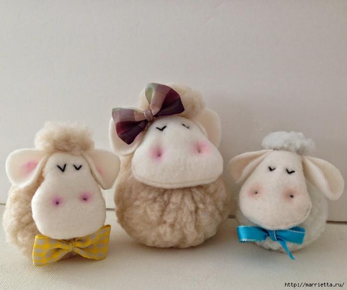 Текстильные овечки. Выкройка (2) (700x586, 231Kb)