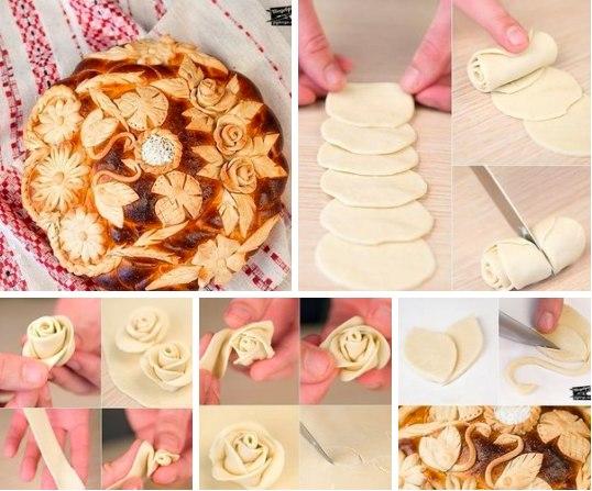Как украсить открытый пирог из дрожжевого теста пошагово