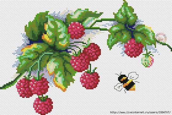 Вышивка фрукты ягоды 39