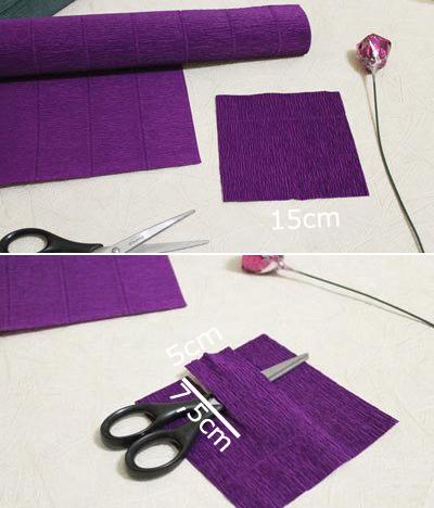 Конфетные букеты из бумажных крокусов (2) (400x468, 145Kb)