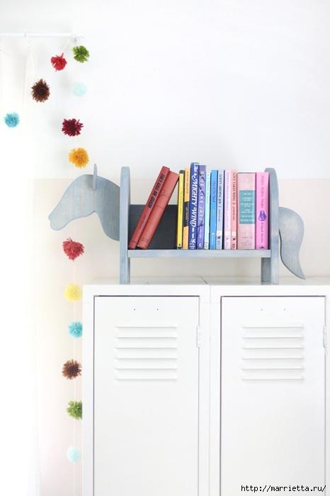 Лошадка с книжками. Креативная полочка своими руками (13) (466x700, 132Kb)