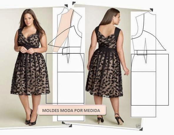 Как сшить своими руками платье для полных 32