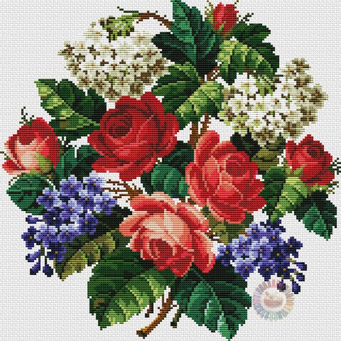Floral Bouquet Pillow (700x700, 786Kb)