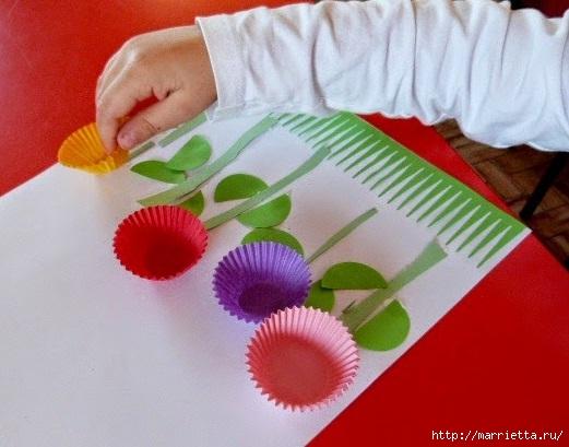 детское творчество. применение формочек для кексов (1) (521x409, 130Kb)