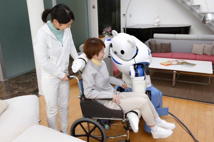японские роботы RIKEN ROBEAR (700x466, 219Kb)
