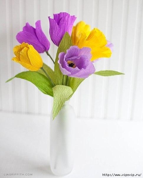 Яркие весенние тюльпаны из креповой бумаги2 (485x604, 96Kb)