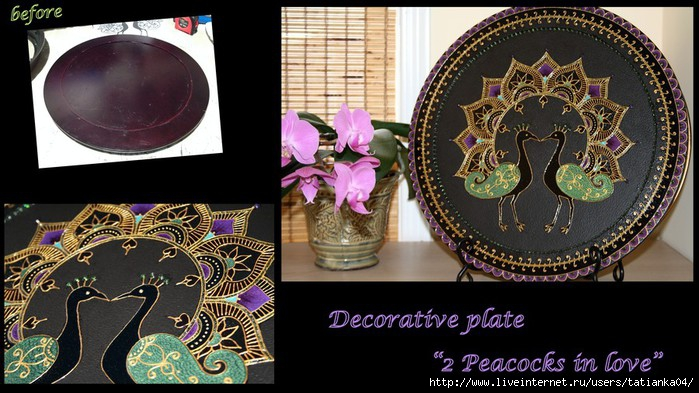 My Craft_Decorative plate_Peacocks in love (700x393, 216Kb)
