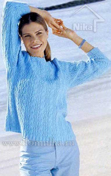 letnij-vjazanyj-pulover-spicami (381x600, 36Kb)