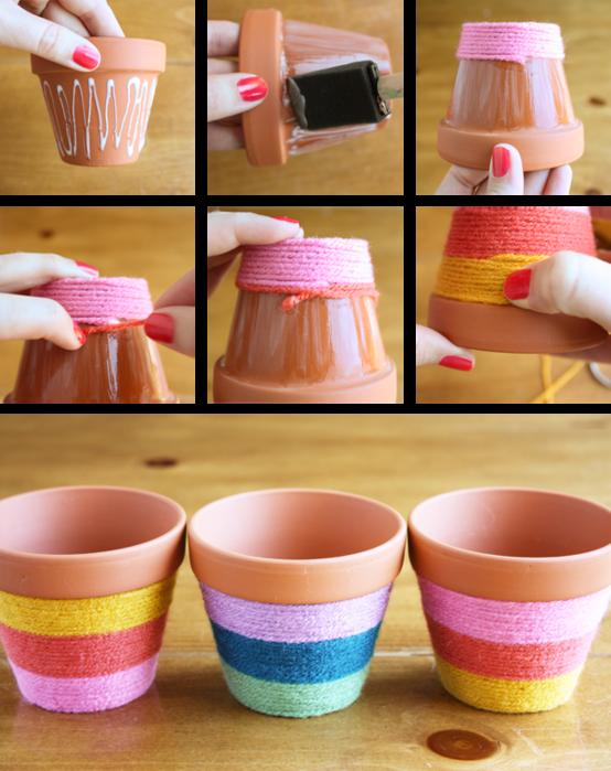 Из чего можно сделать цветочные горшки в домашних условиях