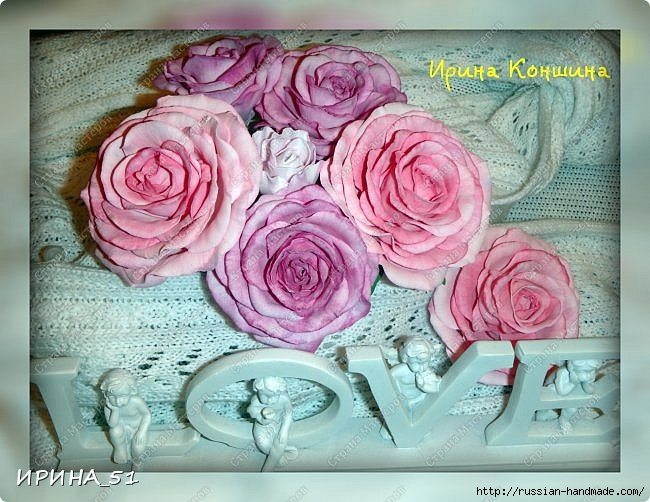 Очень красивые розы из фоамирана. Мастер-класс (4) (650x502, 223Kb)