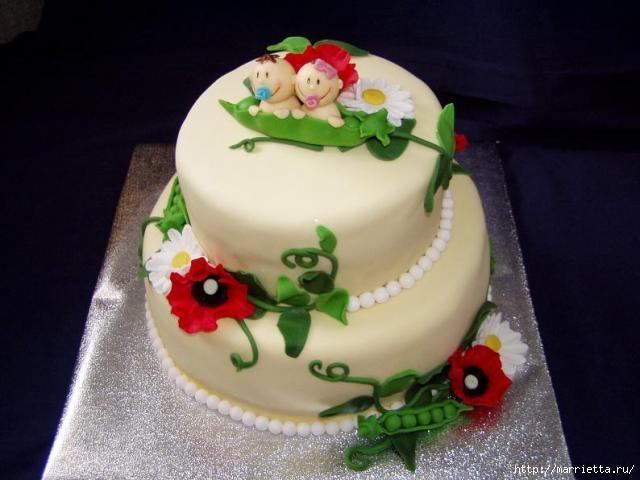 Марципановые торты в честь новорожденного (32) (640x480, 120Kb)