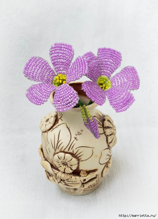 нежные цветы из бисера (6) (507x700, 206Kb)