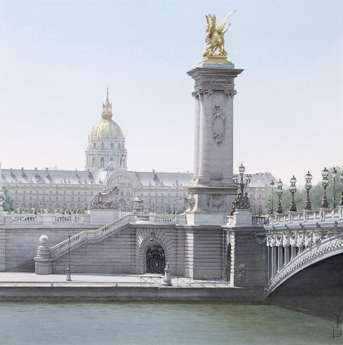 Тьерри Дюваль картины парижа акварель 2 (696x700, 422Kb)