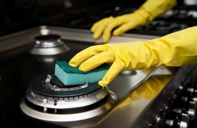 Как очистить решетки от газовой плиты