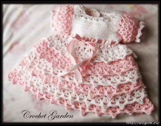 Как вязать платье малышке