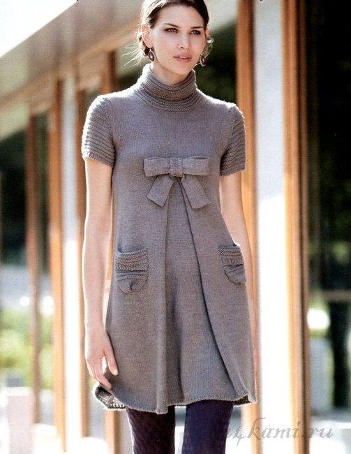 Схема вязания платья спицами для маленькой модницы. . Оденьте свою малютку