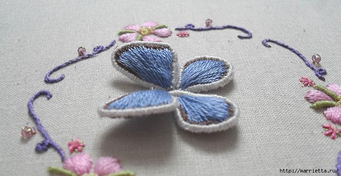 Объемная вышивка. Как вышить крылья бабочки (7) (700x362, 207Kb)