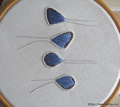 Объемная вышивка. Как вышить крылья бабочки (19) (473x422, 159Kb)