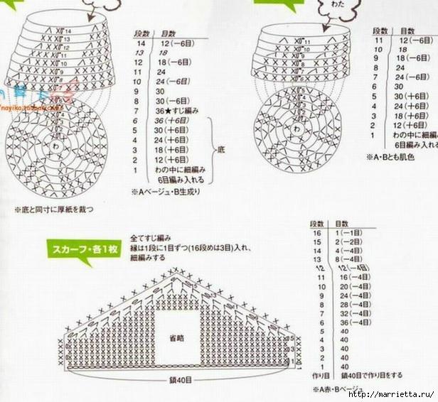 Куколки МАТРЕШКИ амигуруми крючком. Схемы (6) (616x566, 225Kb)