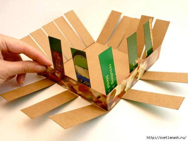 Сделать корзинку из картона