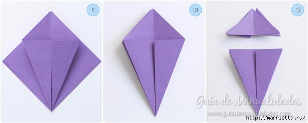 Водяная лилия из бумаги в технике оригами (5) (626x250, 76Kb)