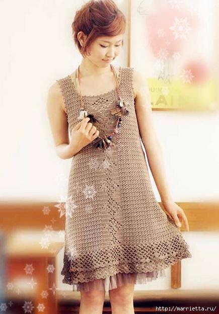 Летнее платье крючком. Схемы (1) (435x624, 154Kb)