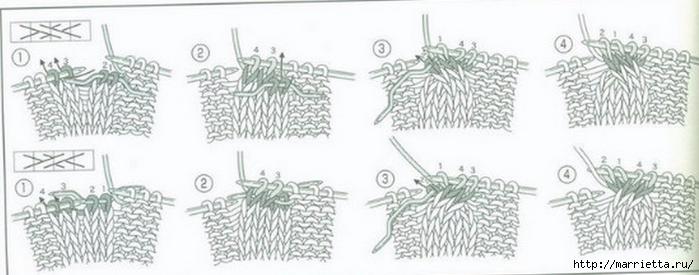 Жилет и летняя жакетка спицами по одной схеме (3) (700x275, 140Kb)