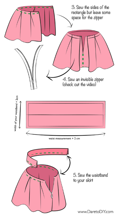 english DIY Tutorial pleated full skirt invisible zipper-04 (380x700, 118Kb)