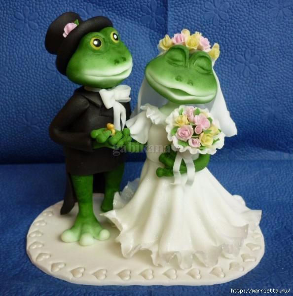 Лягушачья свадьба. Лепка из сахарной мастики (20) (594x600, 155Kb)