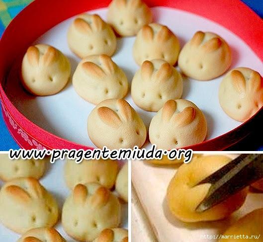 Пасхальные булочки КРОЛИКИ из дрожжевого теста (5) (529x487, 170Kb)