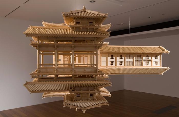 деревянная копия храма Byodo-в 3 (700x458, 284Kb)
