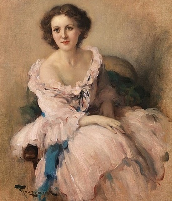 Elegant Lady in Pink (550x645, 317Kb)