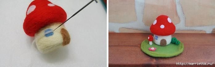 Сказочный домик МУХОМОР в технике валяние (9) (700x219, 95Kb)