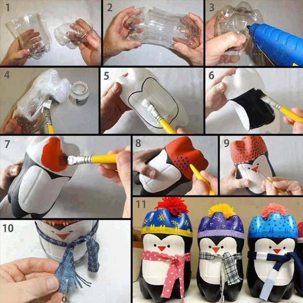 Поделки из из пластмассовых бутылок