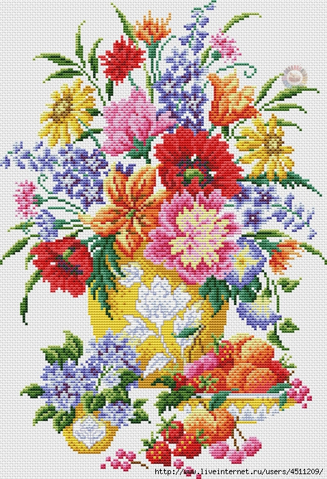 Flowers and Fruits (478x700, 446Kb)