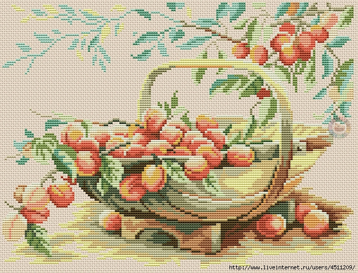 Basket with plums (700x532, 497Kb)