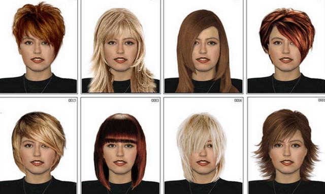 цвет волос и прическа онлайн