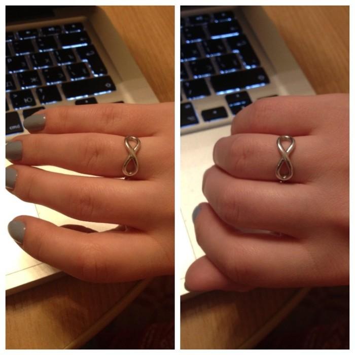 что знаком означает со бесконечности кольцо золотое
