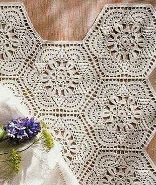 Круглый мотив для юбки крючком схемы