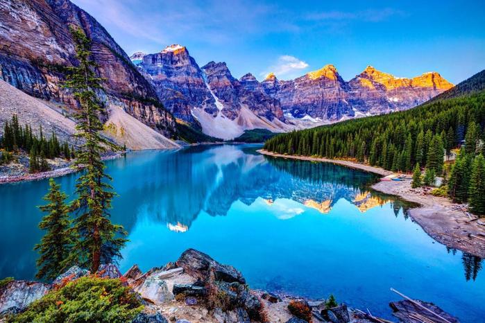 5. Канада, озеро Морейн (700x466, 454Kb)