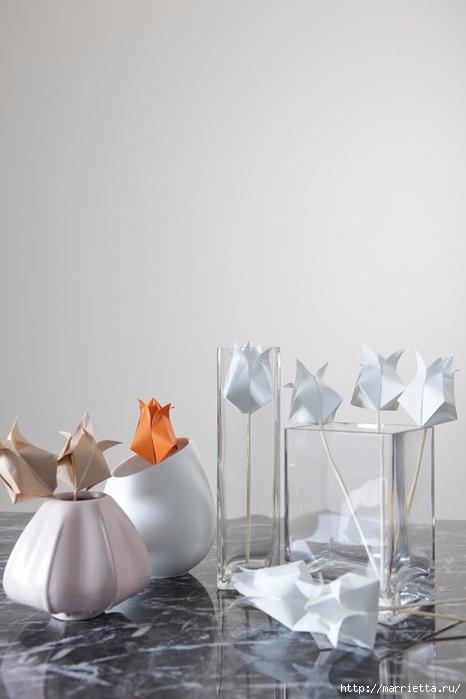 Как сложить тюльпаны в технике оригами (18) (466x700, 125Kb)