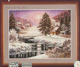 схема вышивки В плену у зимней красоты (279x235, 82Kb)