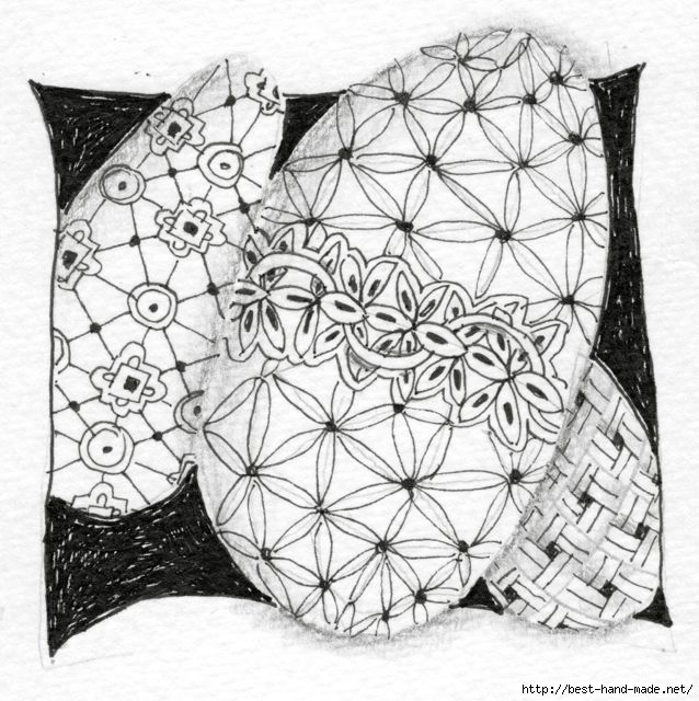 Zentangle Easter egg one (638x640, 253Kb)