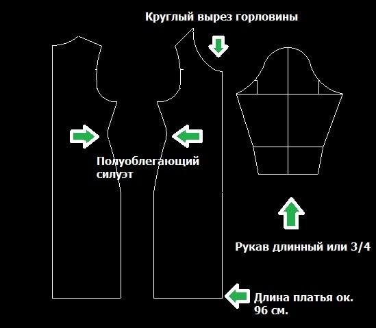 Сшить платье с длинными рукавами своими руками выкройки