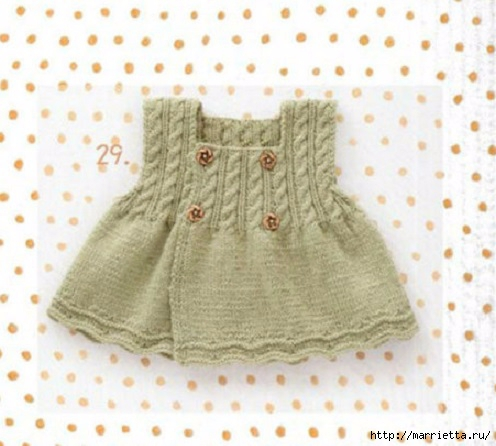 Сарафан для маленькой девочки спицами (2) (496x446, 126Kb)