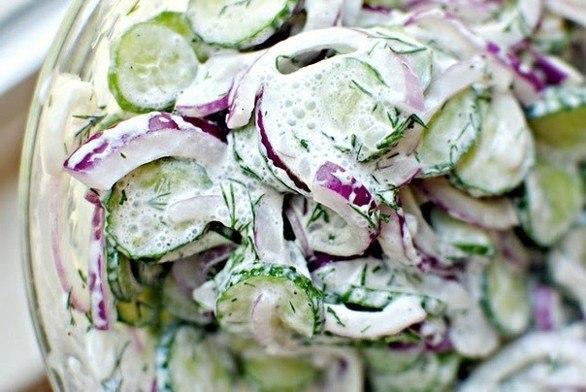 Огуречный салат с соусом (586x392, 60Kb)