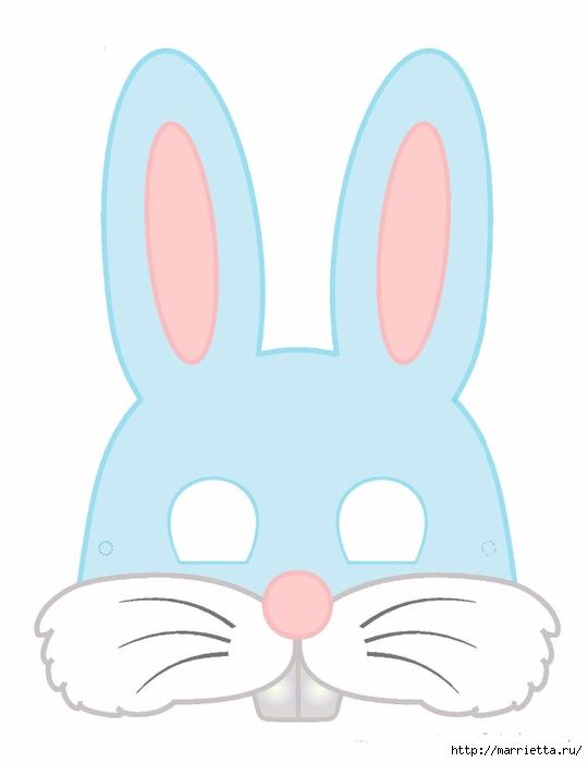 Маски кроликов для детского праздника (2) (540x700, 81Kb)