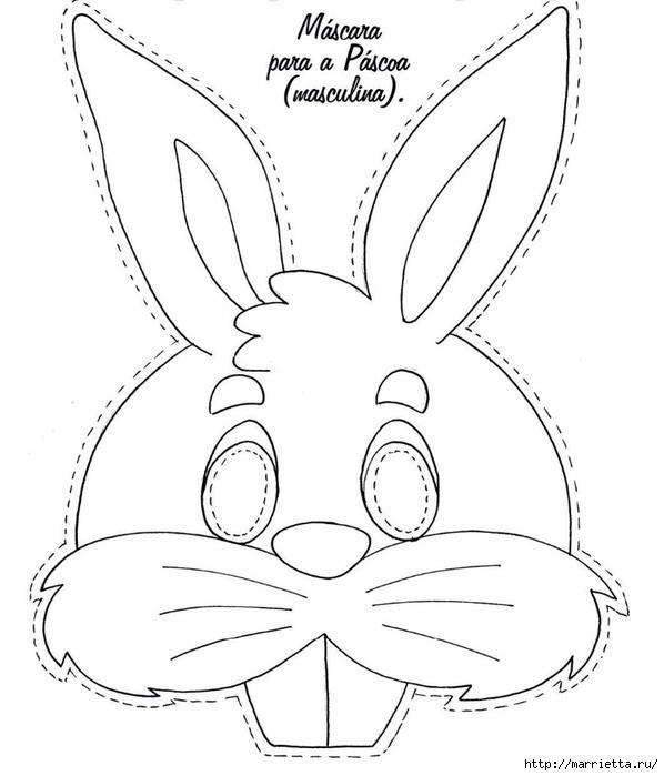 Маски кроликов для детского праздника (6) (598x700, 144Kb)